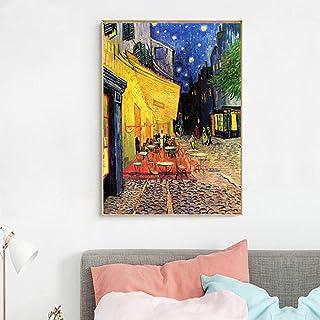 EDGIFT2 Cafe Terrace At Night Reproducción de Obras de Arte Famosas Impresiones en..