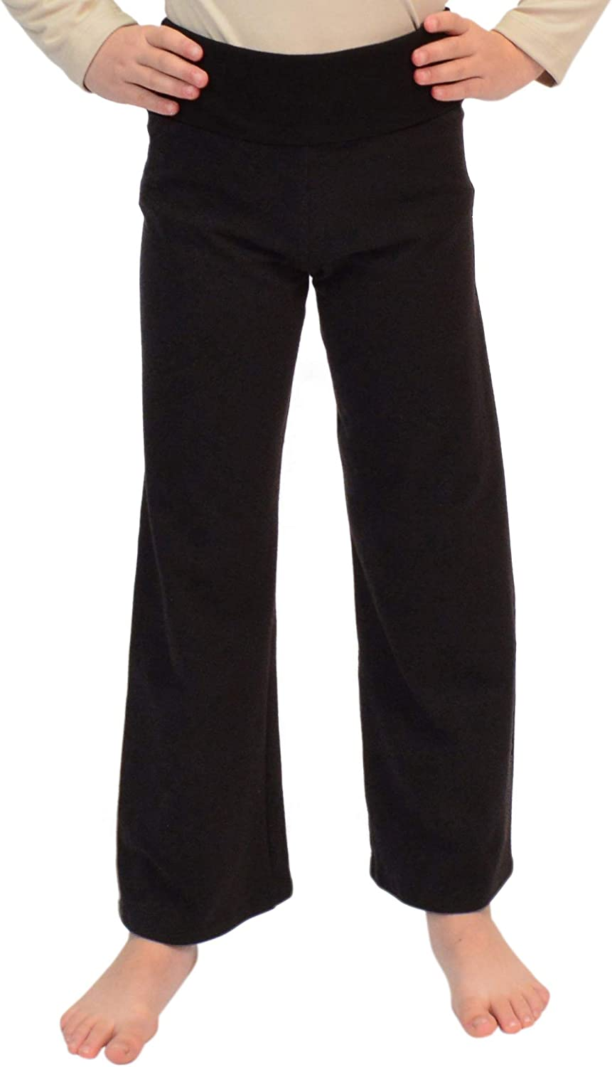 Stretch Year-end annual account is Comfort Girl's Teamwear Cotton Pants Foldover Yoga Genuine Free Shipping