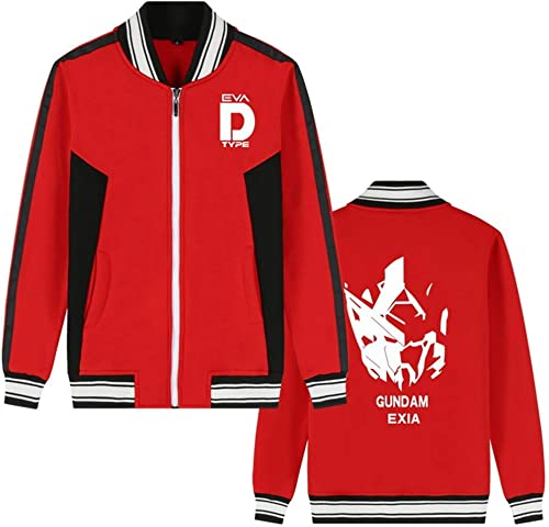 Costume Mobile Gundam Anime Bomber Veste Collège Baseball Vestes Cosplay Costume Zipper Sweat-Shirt Manteau voituredigan (Couleur   rouge 6, Taille   XL)