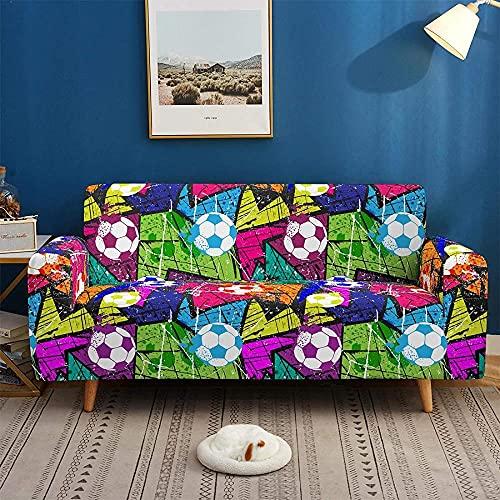 ADIS 3D Digital Fußball staubdicht rutschfest elastisch Sofabezug Ganzjahres Universal Sofabezug 1 2 3 4 Sitzer C_3 Sitzer 190-230cm