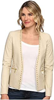 MICHAEL Michael Kors Grommet Cutaway Jacket Women's Jacket (Sand, 12)