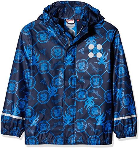 LEGO Wear Jungen Jonathan 103-RAIN Jacket Regenjacke, Blau (Dark Navy 589), 128