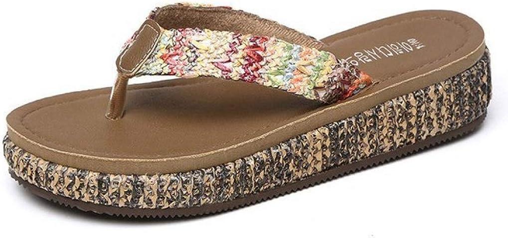CYBLING Womens Summer Beach Thong Sandals Braided Online limited product Ranking TOP10 Espad Bohemian