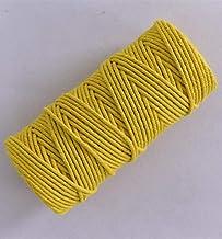 AOM 3 mm kleur katoenen touw dik touw DIY handgeweven wandtapijt twist decoratie gebundeld touw toe, geel