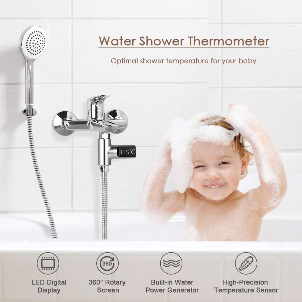 Galapara Duschthermometer,Badethermometer für Babys LED Digital 20 ...