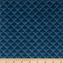 STOF France Baryton Velvet Matelasse Bleu, Fabric by the Yard