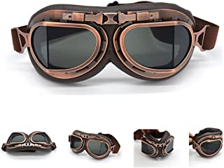 evomosa Motorcycle Goggles Vintage Pilot Style Cruiser...