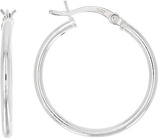JTV-Sterling Silver 21MM Hoop Earrings