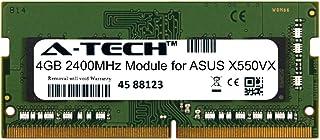A-Tech 4GB モジュール ASUS X550VX ノートパソコン&ノートブック用 DDR4 2400Mhz メモリーラム対応 (ATMS394504A25824X1)