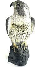 YOFIT Bird Scarecrow Fake Horned Hawk Decoy,Bird Repellent Garden Protectors, Natural Enemy Pest Deterrent Scarecrow