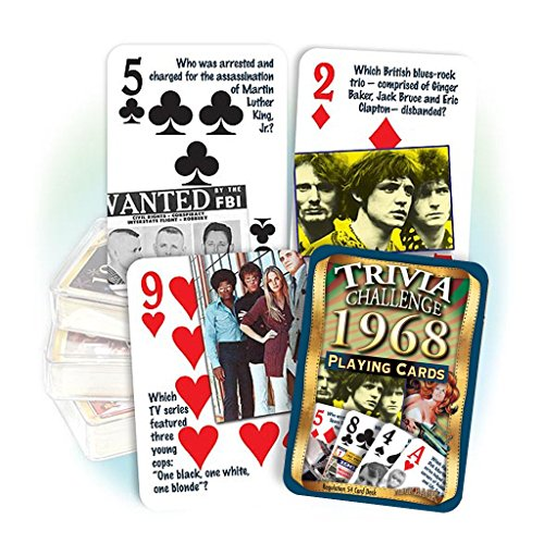 Flickback Media, Inc. 1968 Trivia Playing Cards: 50th Birthday