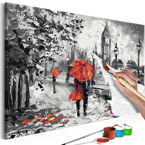murando - Malen nach Zahlen London 60x40 cm Malset mit Holzrahmen auf Leinwand für Erwachsene Kinder Gemälde Handgemalt Kit DIY Geschenk Dekoration n-A-0251-d-a