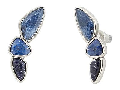 Kendra Scott Ivy Climber Earrings (Vintage Silver Navy Mix) Earring