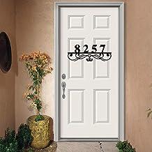 Gepersonaliseerd welkom teken familie aangepaste metalen adres teken, adres nummers voor huis, adres plaque, huis nummer p...