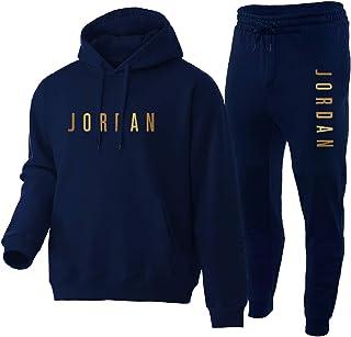 NFNF Tuta Intera per Uomo,Ragazzi Jordan 2 Pezzi Set Abbigliamento Sportivo Superiore E Inferiore,Classico Morbido Confort...