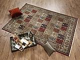 TIWA GHOM echter klassischer Orient-Felder-Teppich handgeknüpft in rot-creme, Größe: 80x150 cm - 4