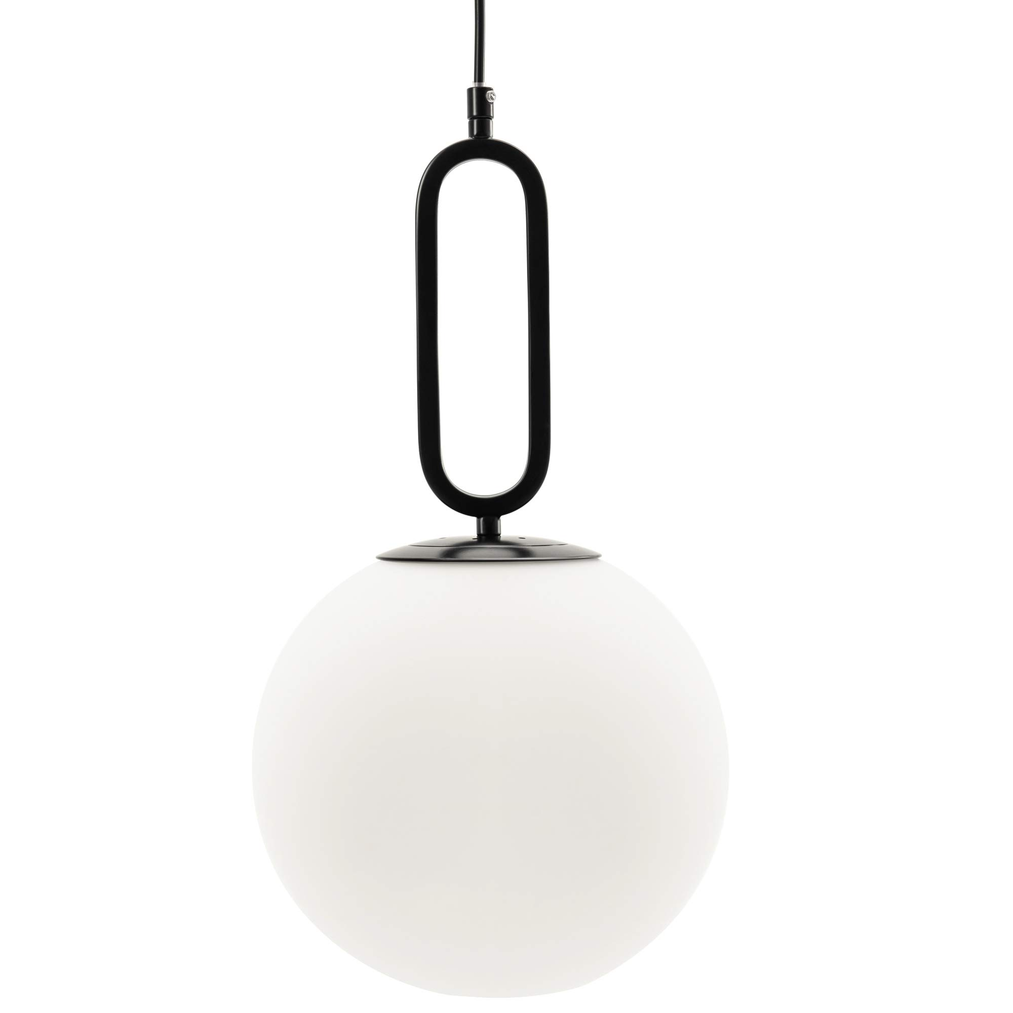 Vidalite Modern Glass Globe Pendant Light 60W, Adjustable Height For Kitchen Island Living Bedroom And Home, Matte Black - - Amazon.com