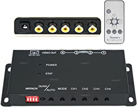 Toughsty 4Ch Mini Color Video Quad Splitter Multiplexer Processor Switcher for CCTV Security Camera