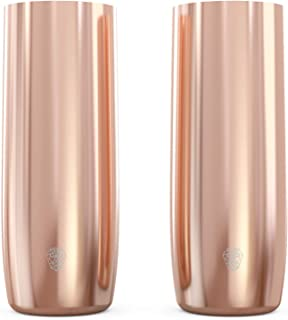 ZUMBLER Elegant HighBall Glasses, Stainless Steel, Sweatproof, Vacuum Insulated, 14 oz - Insulated Highball Tumblers, Set of 2, for Cocktails, Mixed Drinks - Exquisite Barware for Parties, Outdoors
