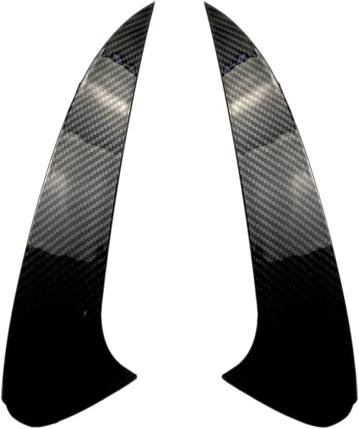LIZCX Auto ABS Hecksch/ützer Splitter Spoiler Seitenfl/ügel Dekorative Abdeckung Fit f/ür Mercedes Benz Gle Coupe C292 2015-2018 Color : Bright Black