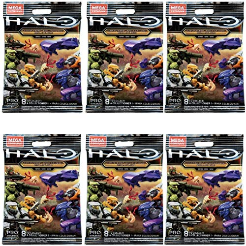 Halo Mega Construx Micro Action Figures Clash on The Ring Series CNC84 Blind Bag (Bundle of 6)