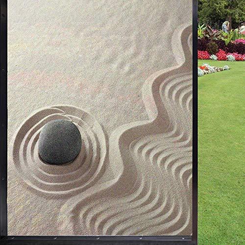 Película de ventana esmerilada para ventana 3D, patrones de ondas en arena,...