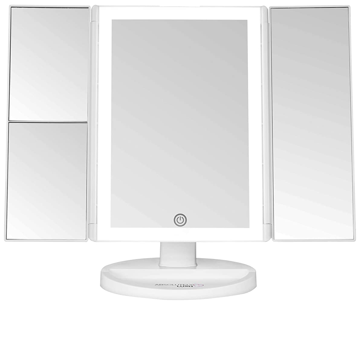 Lighted Makeup Mirror With Magnification | Vanity Mirror with Lights and Touch Screen Dimming – LED Trifold 1x 2x 3x Magnifying Mirrors – Small Portable Makeup Accessories | Make Up Mirror with Lights