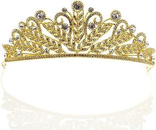 Dongyu Accessori for Capelli da Sposa con Corona for Capelli da Sposa con Diadema da Sposa (Color : Gold)