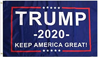 PringCor - 2020 President Donald Trump - Keep America Great! Durable Republican Conservative Flag with 2 Brass Grommets for Hanging