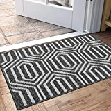 """DEXI Indoor Doormat, Non Slip Absorbent Resist Dirt Entrance Rug, 20""""x32"""" Machine Washable Low-Profile Inside Floor Door Mat"""