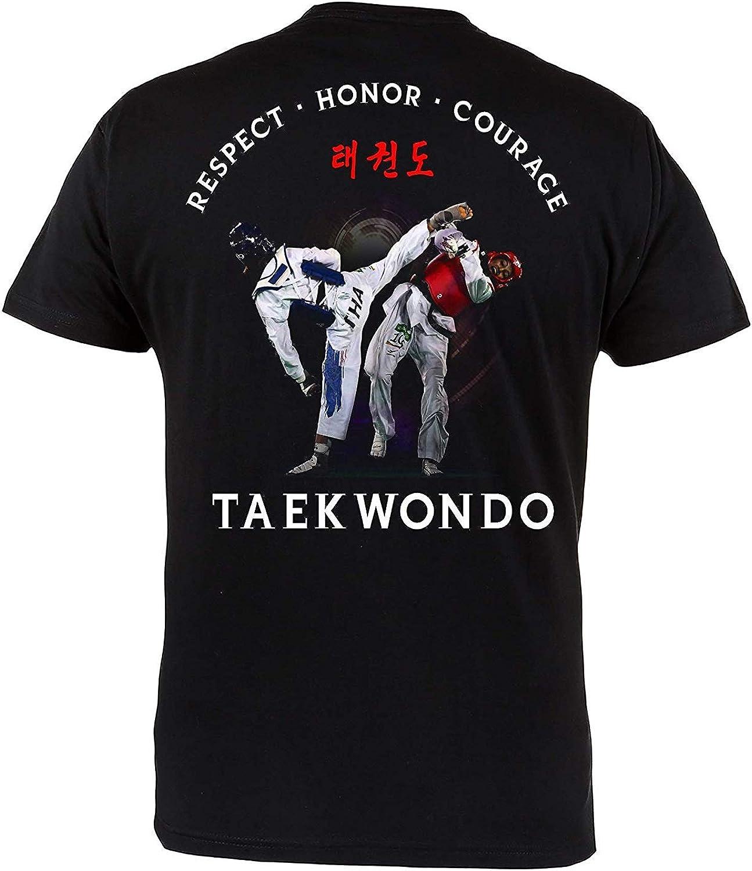Rule Out Camiseta Ropa de lucha. taekwondo. respect. honor. Corage Gimnasio Entrenamiento MMA Informal LLEVAS