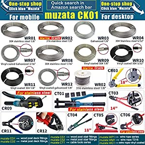 """Muzata Stainless Steel Wire Rope Aircraft Bicycle Cable Cutter,Up To 5/32"""""""