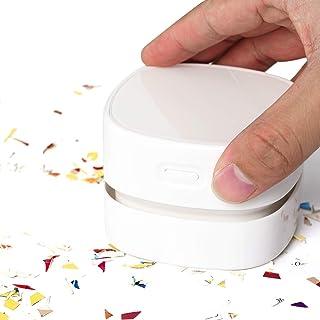 Surplex Mini-tafelstofzuiger, hoog zuigvermogen, stofreiniger, tafelstofzuiger voor het reinigen van kruimels, afschroefba...