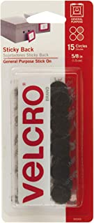 VELCRO Brand - Sticky Back Fasteners, 5/8in Coins, 15 Sets, Black