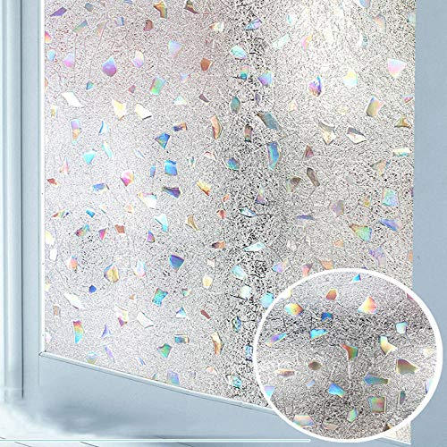 Vinyl raamfolie decoratieve privacy raamfolie geen lijm 3D anti-UV afneembare ramen cling vinyl zelfklevend