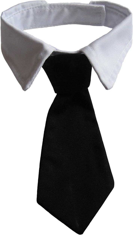 VEDEM Dog Necktie Pet Tuxedo Cotton Sm Ranking TOP11 for Tie Max 53% OFF Collar Black with