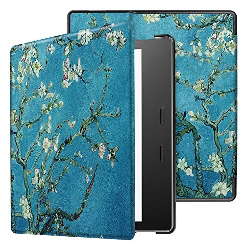 SGJFZD Para Amazon Kindle Oasis 3 (9ª y 10ª generación, versión 2017 y 2019) Búho Butterfly Flower Dandelion Eiffel Tower Design Smart Tablet Funda con sueño automático/Wake (Pattern : 2)