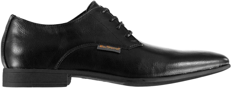 Ben Sherman Amersham Derby shoes Mens Mono Black Lace Up Formal Footwear