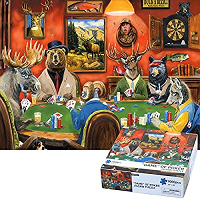 Puzzles for Adults - 1000 Piece Jigsaw Puzzle for Adults - Bunmo Game of Poker Every Piece is Unique & Pieces Fit Together Perfectly