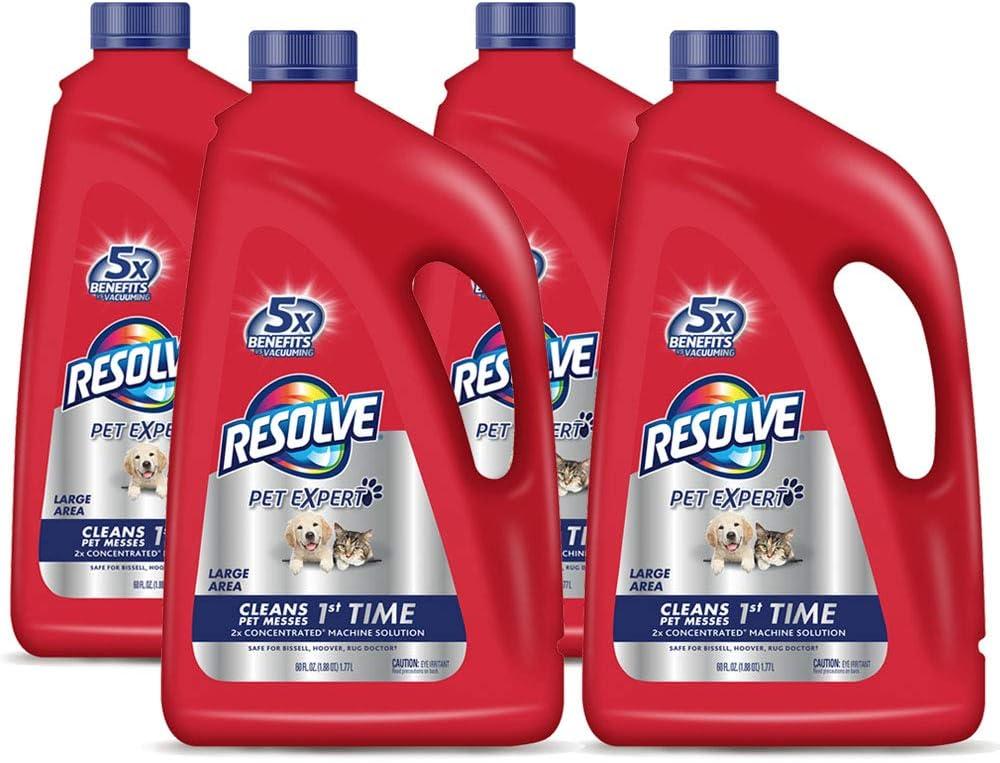 Resolve Super Special SALE held Pet Steam Carpet Cleaner 4 San Jose Mall Shampoo Bott Solution 240oz