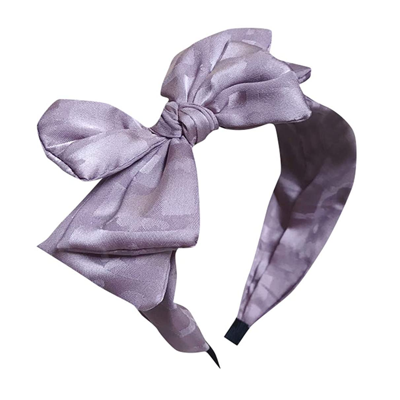 Womens Headband Bow Knot Headband Twist Turban Headband Cross Knot Wide Headbands Hair Accessories (C, Multicolor)