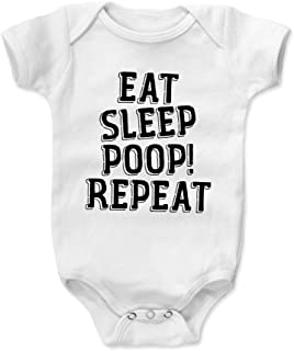Bald Eagle Shirts Funny Sayings Baby Clothes & Onesie (3-6, 6-12, 12-18, 18-24 Months) - Eat Sleep Poop Repeat