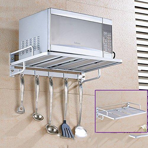 Küchenregal, Praktische Wandmontierte Mikrowelle Rack Gewürzkocher Regal Multifunktions Aluminiumlegierung Küche Kommoden & Sideboards Upgrade Größe 55 cm * 38 cm * 14 cm, 4 Stile ( Color : D )
