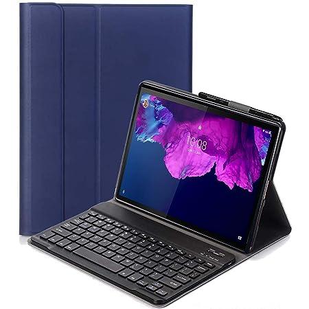 C/N Teclado Funda para Lenovo Tab P11 - QWERTY Ultra Slim Teclado Wireless Keyboard Case con Magnético Desmontable Inalámbrico Bluetooth para Lenovo ...