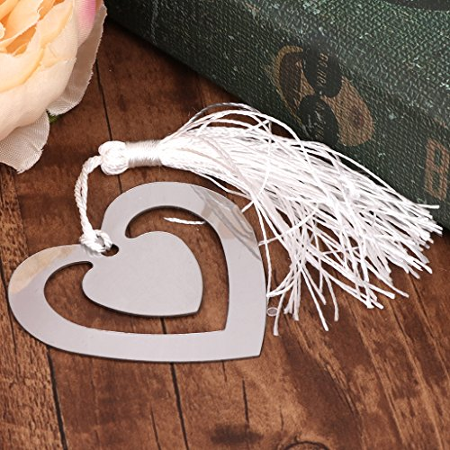 cuigu Double Herz Love Hollow Design Lesezeichen Hochzeit Geschenke kleine Geschenke Metall Decor