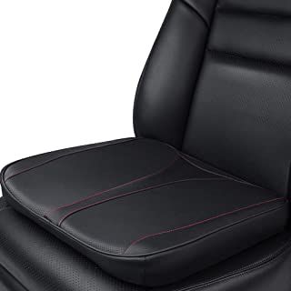 Aukee Car Seat Cushion Leather Cover Memory Foam Office Chair Mat Home Use Pad Black 1PC