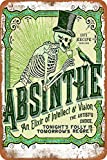 Dafony Absinthe Wand Metall Poster Retro Plakette