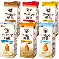 グリコ アーモンド効果 6種アソートセット アーモンドミルク 常温保存可能 200ml ×18本