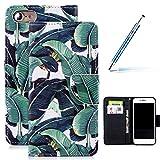 Coque iPhone 7/8 PU Pochette Portefeuille en Cuir Coque de Protection Housse à Rabat Magnétique...
