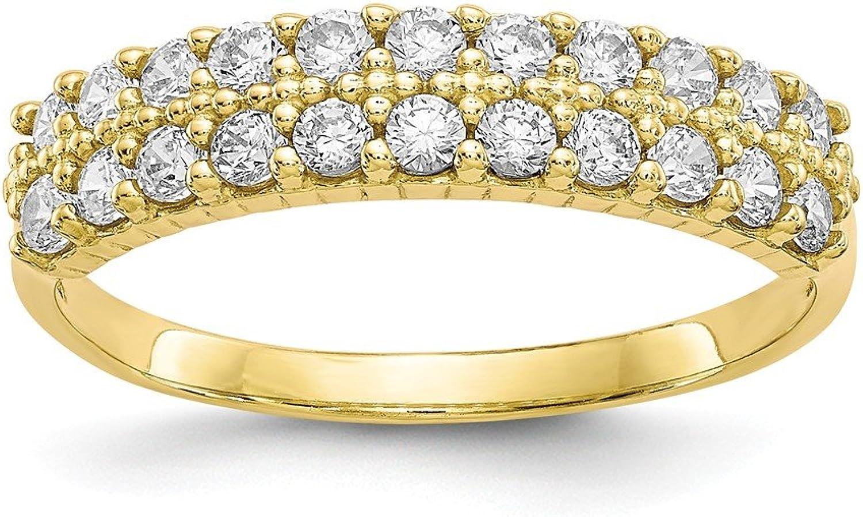 Beautiful Yellow gold 10K Yellowgold 10k Fancy CZ Ring